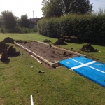 Sand Pit Cover for Long Jumps in Abbey Dore 12