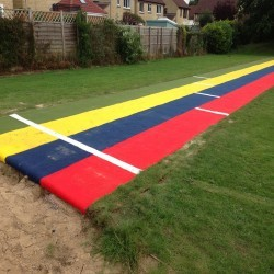 Sand Pit Cover for Long Jumps in Abbey Dore 9