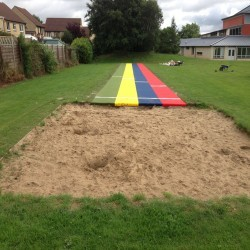 Sand Pit Cover for Long Jumps in Dyserth 3