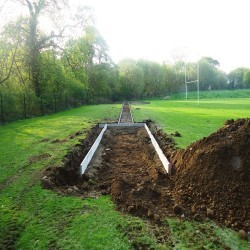 Groundworks for Triple Jump in Abersychan 2