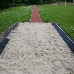 Long Jump Run Up Surfacing in Aberedw 9