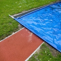 Sand Pit Cover for Long Jumps in Abbey Dore 1