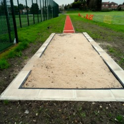 Sand Pit Cover for Long Jumps in Abbey Dore 5