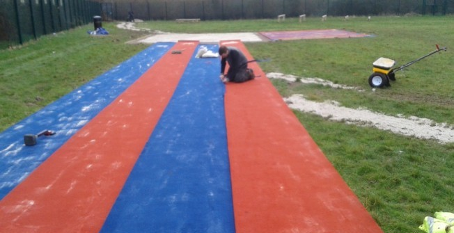 Athletics Runway Installation in Newtownabbey