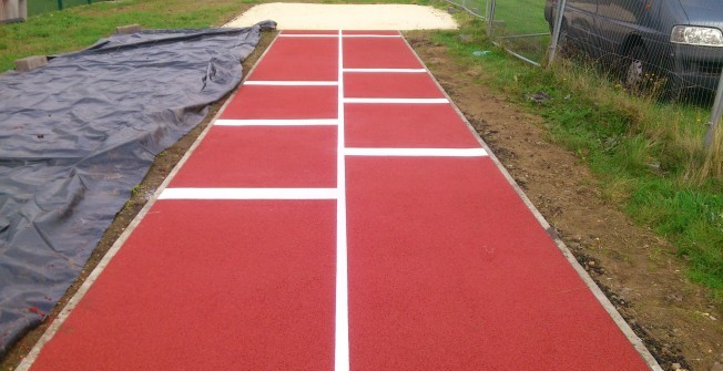 Long Jump Surfacing in Lydney