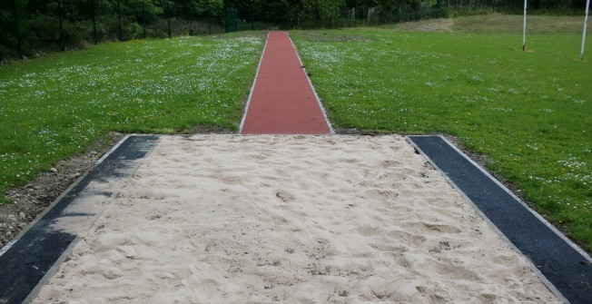 Long Jump Sand Pit in Ainley Top